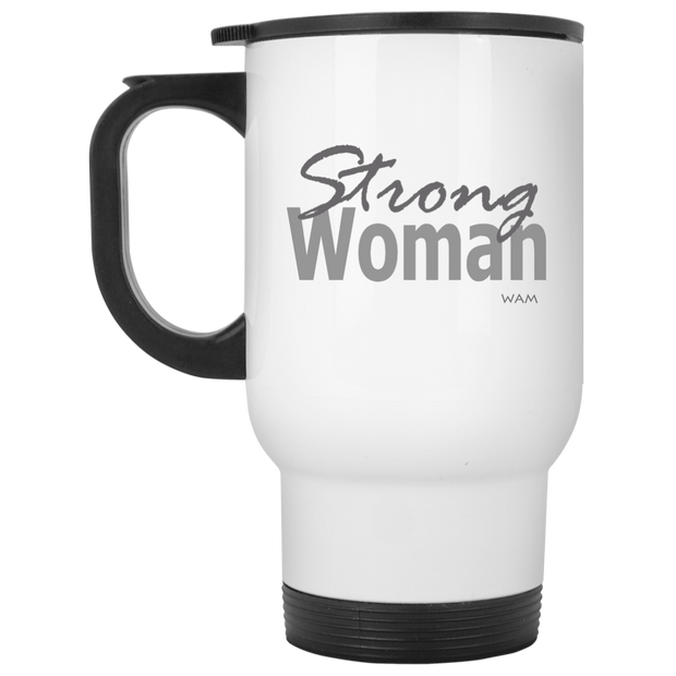 strong woman!  XP8400W White Travel Mug
