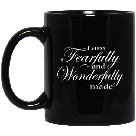 I am wonderfully made! BM11OZ 11 oz. Black Mug