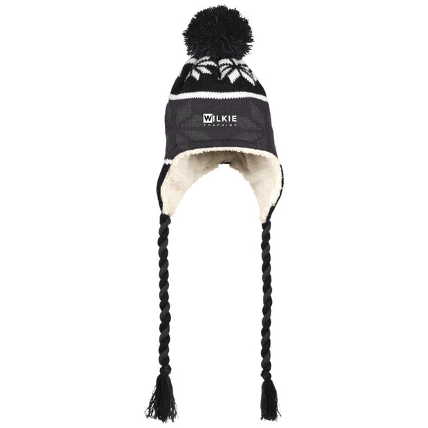 Wilkie 223825 Hat with Ear Flaps and Braids