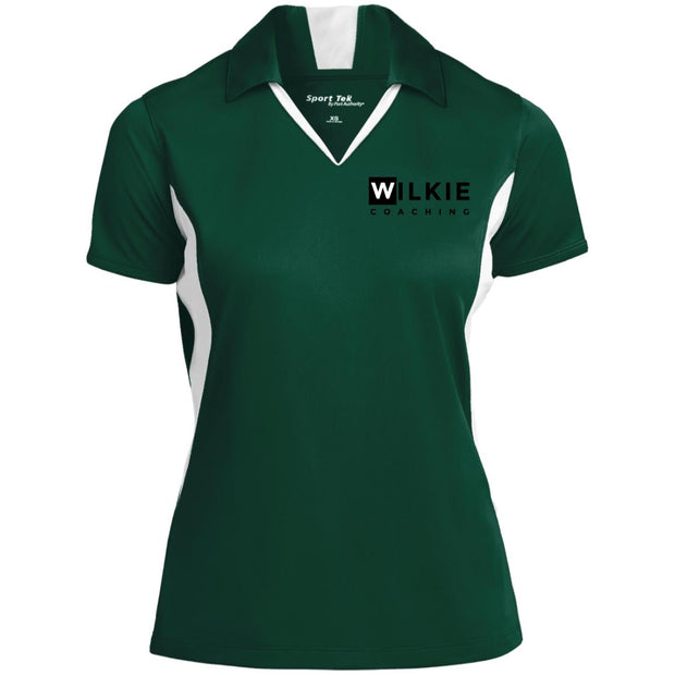 wilkie  LST655 Ladies' Colorblock Performance Polo