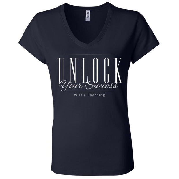 UNLOCK SUCCESS B6005 Ladies' Jersey V-Neck T-Shirt