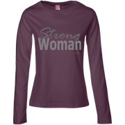 strong woman! 3588 LAT Ladies' LS Cotton T-Shirt
