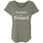 Thankful and blessed!  NL6760 Next Level Ladies' Triblend Dolman Sleeve