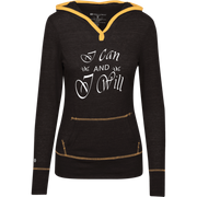 I can and I will ! Junior Lightweight T-Shirt Hoodie