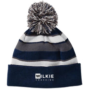 Wilkie 223835 Striped Beanie with Pom