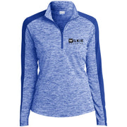 wilkie  LST397 Ladies' Electric Heather Colorblock 1/4-Zip Pullover