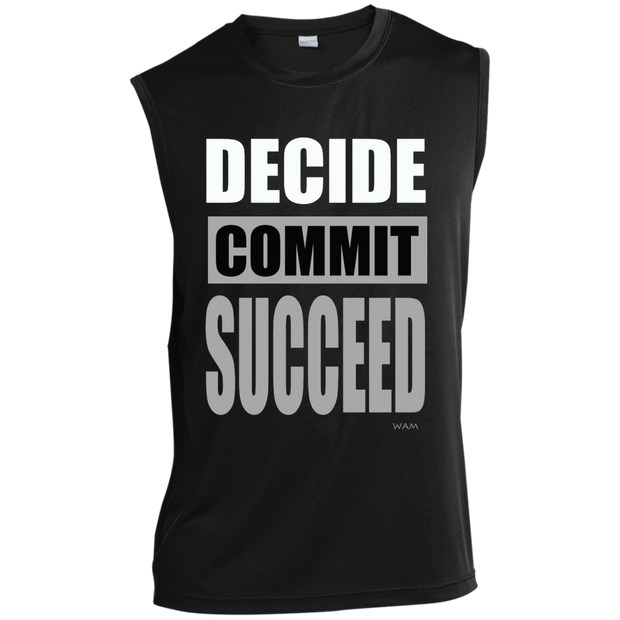 DECIDE, COMMIT, SUCCEED!  ST352 Sport-Tek Sleeveless Performance T-Shirt