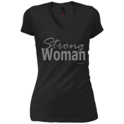 strong woman!  DT4501 District Junior's Vintage Wash V-Neck T-Shirt