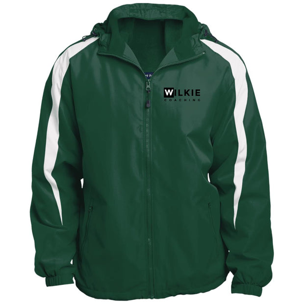 wilkie  JST81 Fleece Lined Colorblocked Hooded Jacket