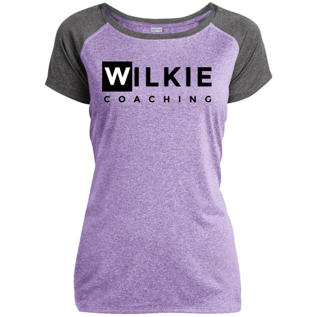 wilkie  LST362 Ladies Heather on Heather Performance T-Shirt