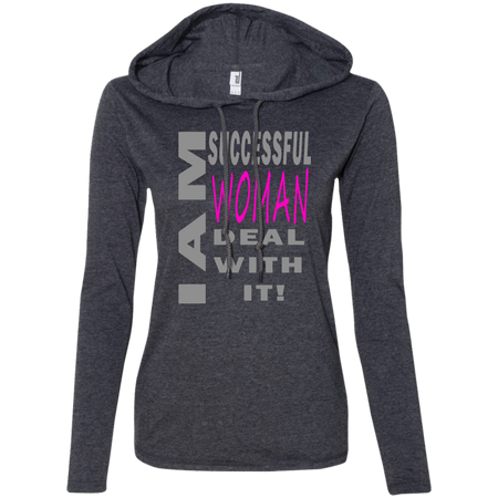 Successful woman! Ladies LS T-Shirt Hoodie