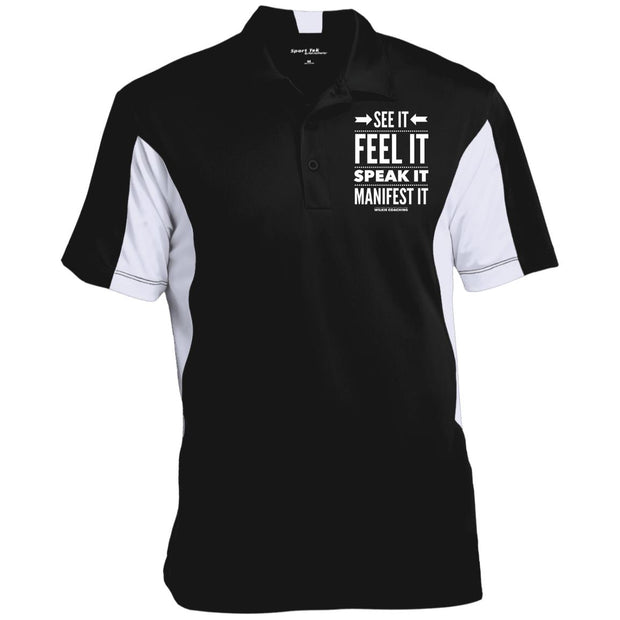 SEE IT FEEL IT SPEAK IT!  ST655 Men's Colorblock Performance Polo