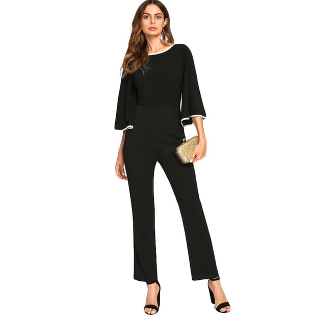 Wam Tailored Jumpsuit black and white