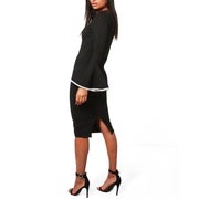 WAM Blessed black and white fashion Ruffle  Dress