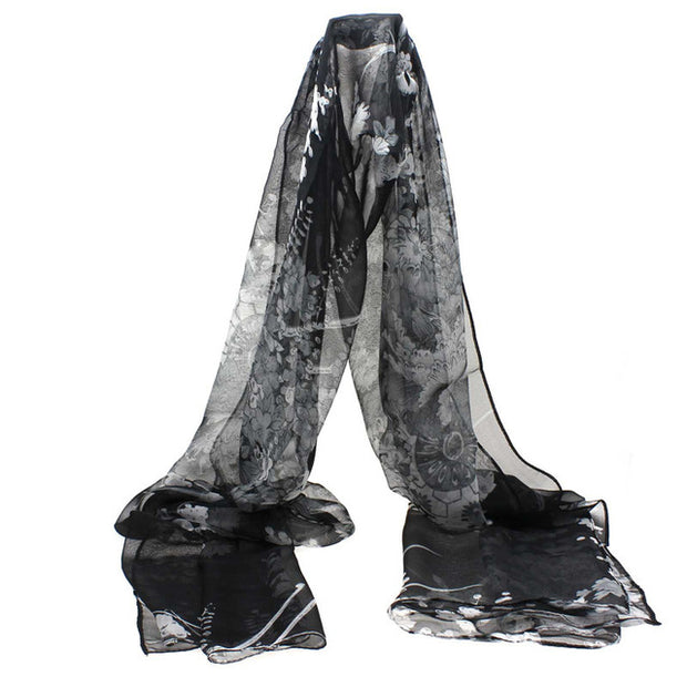 office Chiffon Silk Women's Scarves