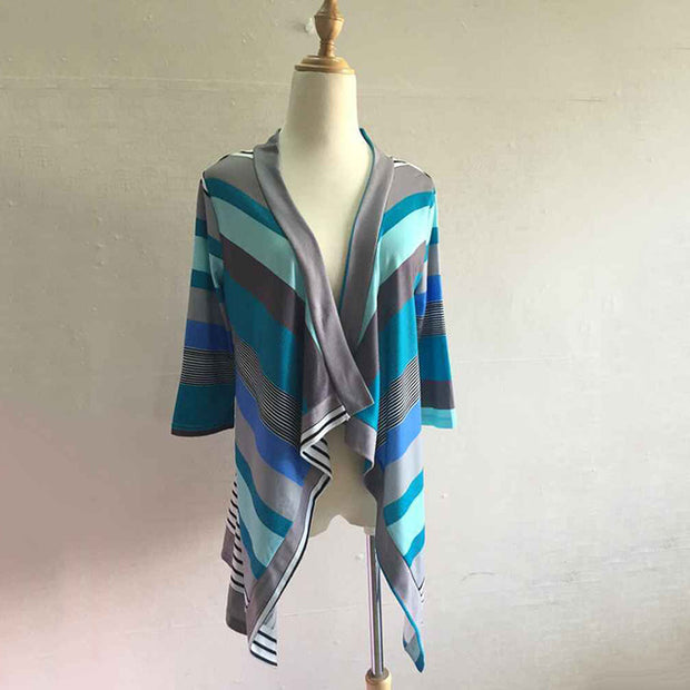 SPECIAL OCTOBER 50% OFF Wam Asymmetrical Striped Cardigan Sweaters(FREE SHIPPING)