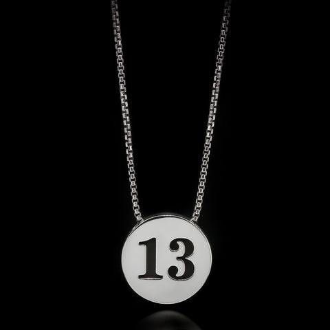 13 Slider Necklace - Sterling Silver