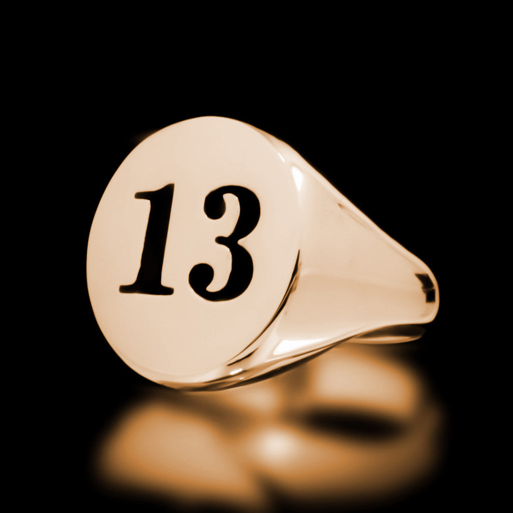13 Signet Ring - Brass - Twisted Love NYC