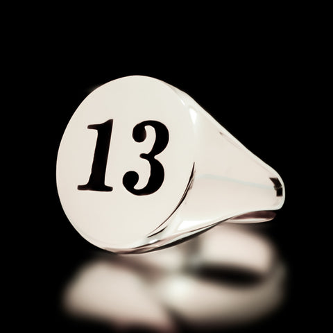 13 Signet Ring - Sterling Silver