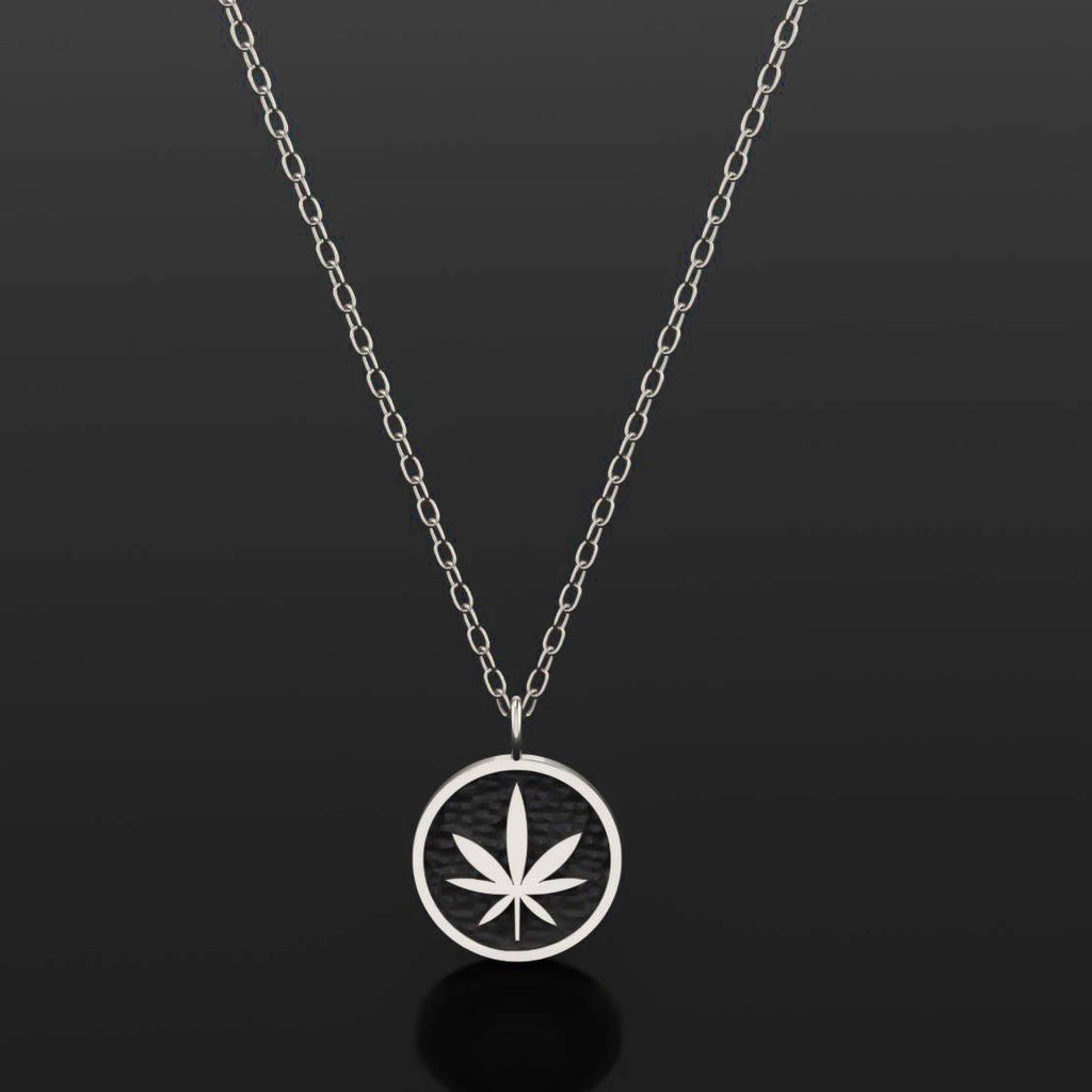 4/20 Limited Edition Leaf Necklace - Sterling Silver - Twisted Love NYC