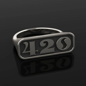 4/20 Limited Edition OG Signet Ring - Sterling Silver - Twisted Love NYC