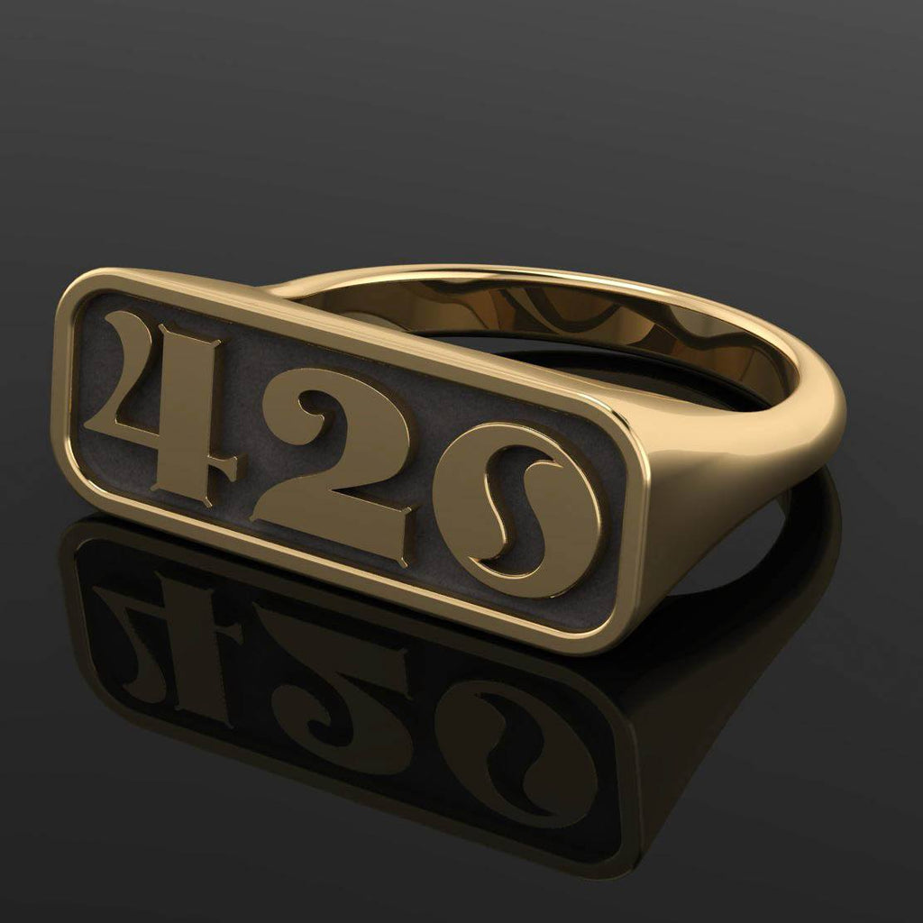 4/20 Limited Edition OG Signet Ring - Brass - Twisted Love NYC