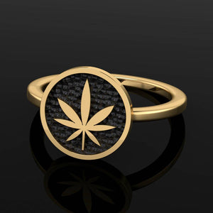 4/20 Limited Edition Dainty Signet Ring - Brass - Twisted Love NYC