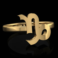 Zodiac Ring - Capricorn - Twisted Love NYC