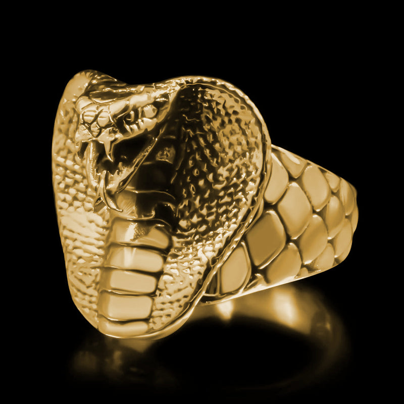 Cobra Head Ring - Brass - Twisted Love NYC