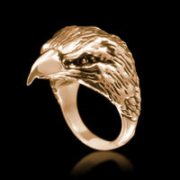 Eagle Head Ring - Brass - Twisted Love NYC