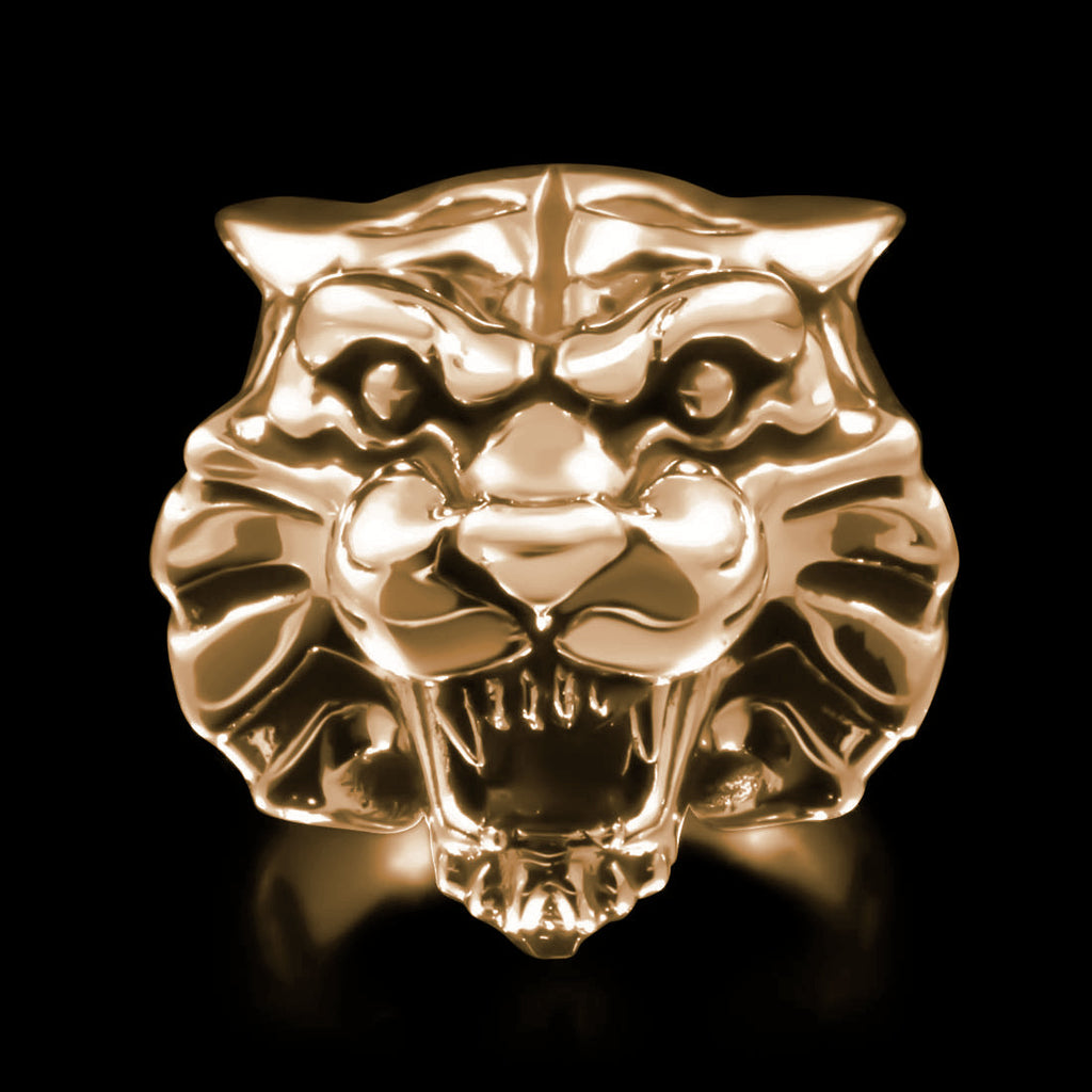 Tiger Head Ring - Brass - Twisted Love NYC