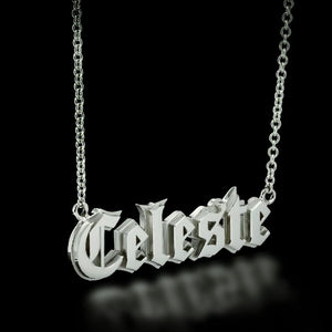 Custom Gothic Nameplate Necklace - Twisted Love NYC