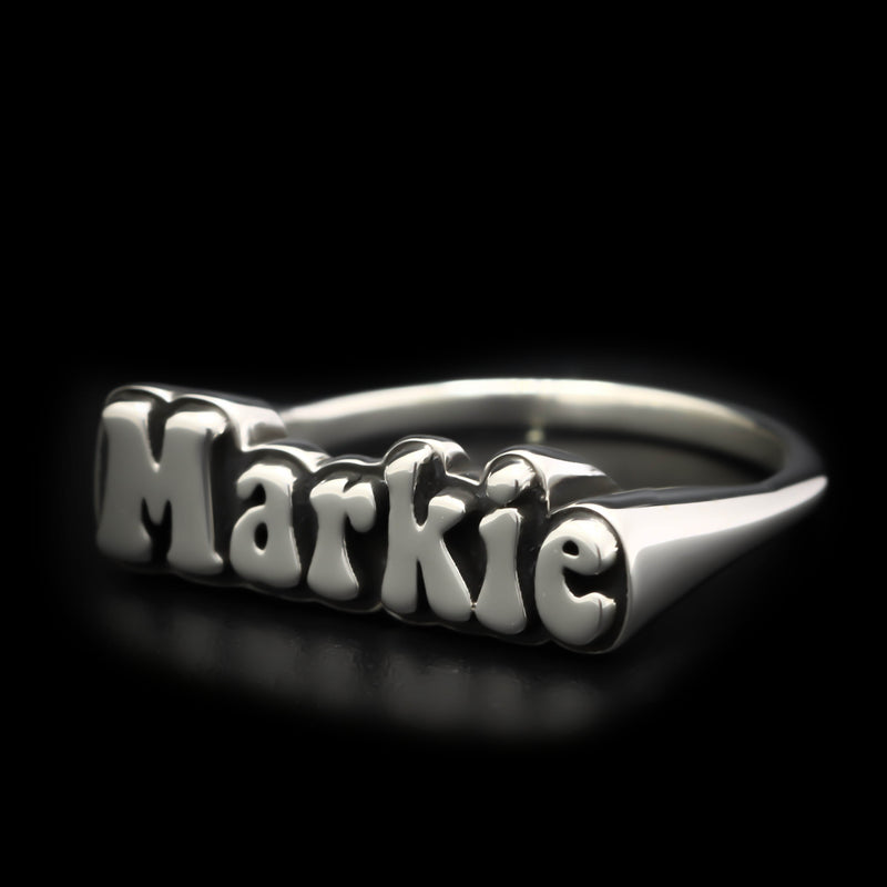 Custom Woodstock Name Ring - Sterling Silver - Twisted Love NYC
