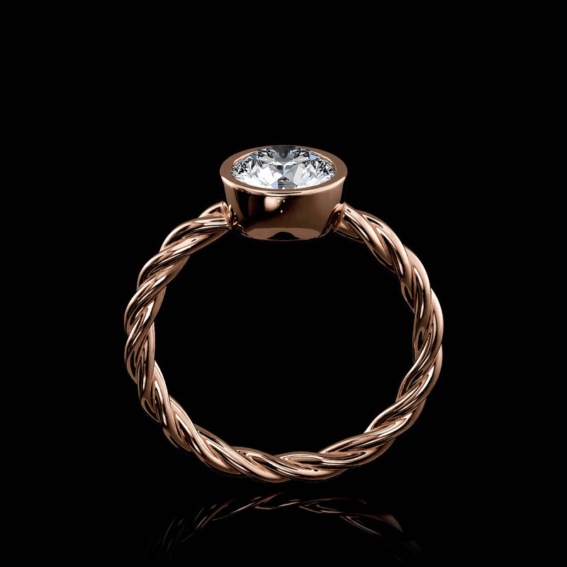 Twisted Rope Solitaire - 1 Carat