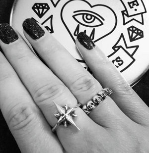 North Star Ring - Brass - Twisted Love NYC