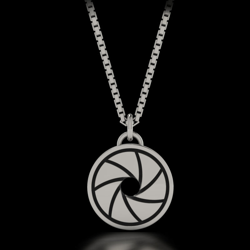 Photographer Camera Diaphragm Necklace  - Sterling Silver - Twisted Love NYC