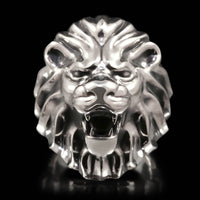 Lion Head Ring - Sterling Silver - Twisted Love NYC