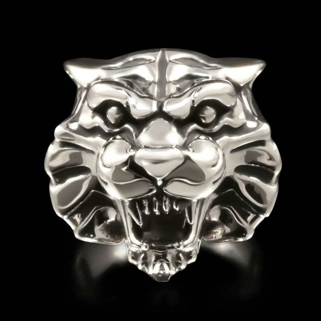 Tiger Head Ring - Sterling Silver - Twisted Love NYC