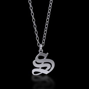 Gothic Letter Necklace