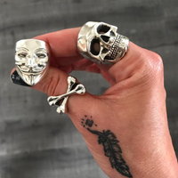 Crossbones Ring - Brass - Twisted Love NYC
