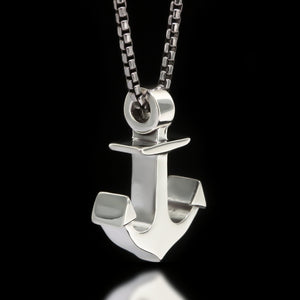 Anchor Slider Necklace - Sterling Silver - Twisted Love NYC