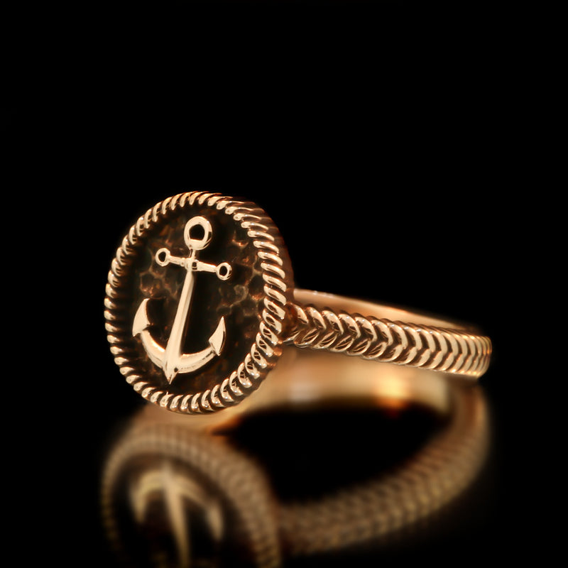 Ladies Anchor Ring - Brass - Twisted Love NYC