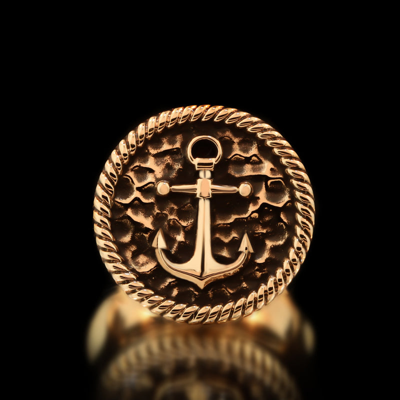 Anchor Ring - Brass - Twisted Love NYC