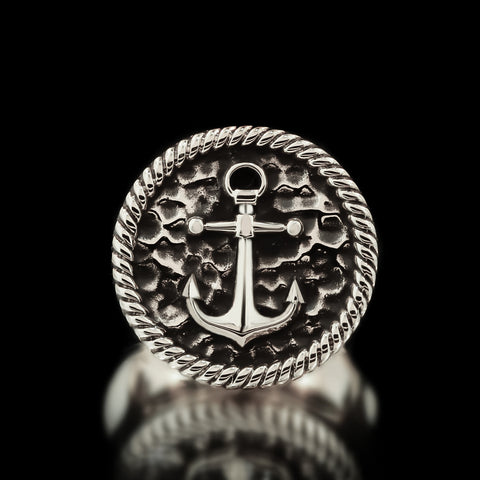 Anchor Ring - Sterling Silver