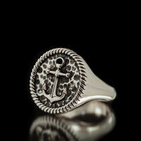 Anchor Ring - Sterling Silver - Twisted Love NYC