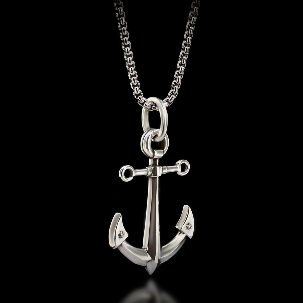 Anchor Necklace - Sterling Silver - Twisted Love NYC