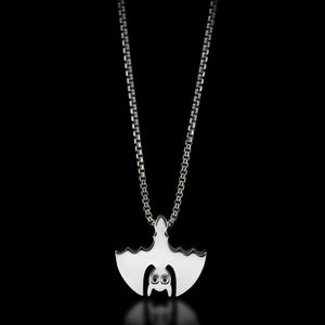 Bat Slider Necklace - Sterling Silver - Twisted Love NYC