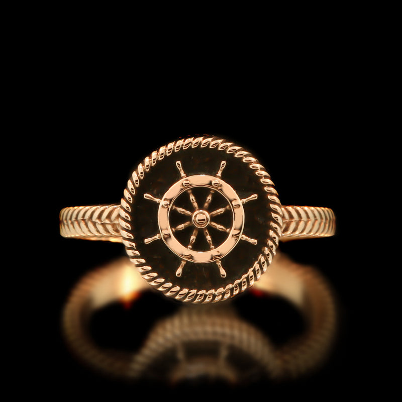 Ladies Boat Wheel Ring - Brass - Twisted Love NYC
