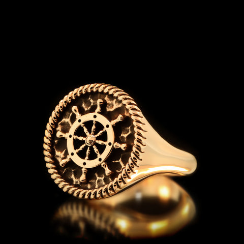 Boat Wheel Ring - Brass