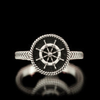 Ladies Boat Wheel Ring - Sterling Silver - Twisted Love NYC